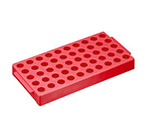 Rack for Cryo Vial 50 Pcs Storage 100 x 200 x 250mm Red T315-3