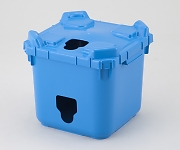 バッグインコンテナー 本体穴有 フタ穴有 青 BIC20-1