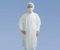 [取扱停止]見学者用白衣3点セット 男女兼用 1セット MST76770