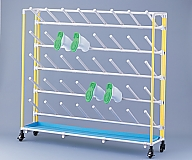 [Discontinued]Antibacterial Boots Rack Inclined Type 3 Columns 4 Stages for 12 People Pink and others