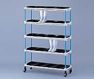 [Discontinued]Antibacterial Boots Rack 3 Columns 4 Stages for 12 People Pink and others
