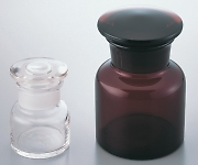 [Discontinued]Wide-Mouth Short Type Bottle with Ground-In Stopper White and others