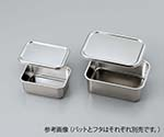 Deep Type Stainless Steel Tray Set, Size 0, Lid 147 x 116mm 0/