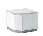 サイド実験台 ホワイトタイプ・コーナー用 1000×1000×800 SJA-1010W