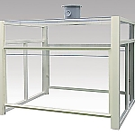 Laboratory Bench Hood Double-Sided Type, Made Of PVC 1800 x 1500 x 1400 and others