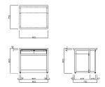 分析機器用作業台 (オープンタイプ・引出し付き) BDTシリーズ等