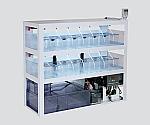 小型魚類飼育システム 照明・暗幕付仕様 1200×450×1145