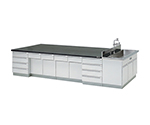 [Discontinued]Central Laboratory Bench Wooden Riser, With Side Sink 2400 x 1200 x 800 and others