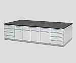 中央実験台 木製タイプ・フラット型 1800×1200×800等