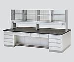 中央実験台 木製タイプ・デスク型・試薬棚付き SGOE