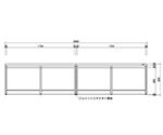 Central Laboratory Bench Wooden White Type, without Drawer, Frame Type 1800 x 1200 x 800 and others