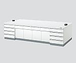 中央実験台 木製ホワイトタイプ・ケコミ型