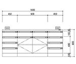 中央実験台 木製ホワイトタイプ・ケコミ型 SAOシリーズ