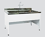 Steel Sink for Central Laboratory Bench Steel, Depth 600, Single Tank Sink Type 1200 x 600 x 800 and others