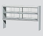 Steel Reagent Shelf for Central Laboratory Bench Steel, with Glass Door, Double-Sided Type 1480 x 372 x 1100 and others