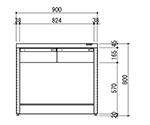 Side Laboratory Bench White Top Board, Frame Type 900 x 750 x 800 and others