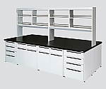 Unit Central Laboratory Bench Steel Type, Flat Type, with Reagent Shelf 1800 x 1500 x 800/1915 and others