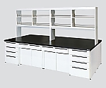 Unit Central Laboratory Bench Steel Type, Riser Type, with Reagent Shelf 1800 x 1500 x 800/1915 and others