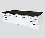 Unit Central Laboratory Bench Steel Type, Riser Type 1800 x 1200 x 800 and others