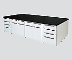 Unit Central Laboratory Bench Steel Type, Flat Type 1800 x 1200 x 800 and others