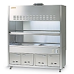 ASSRE Fume Hood Stainless Steel, Working Surface All Sink 2 Tanks Type 1200 x 820/750 x 2150 and others