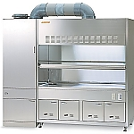 ASSRE Fume Hood Stainless Steel, Dry Scrubber Horizontal Type 1900 x 820/750 x 2100 and others