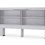 [Discontinued]Reagent Shelf Single-Sided Type, with Glass Door, with Fluorescent Lamp 900 x 200/305 x 1070 and others