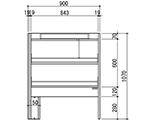 [Discontinued]Reagent Shelf (Double-Sided Type) with Fluorescent Lamps and others