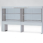 [Discontinued]Reagent Shelf Double-Sided Type, with Glass Door, with Fluorescent Lamp 900 x 300/510 x 1070 and others