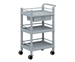 Mobile Storage Cart 3 Sages 610 x 370 x 885 (Including Drawer, Guard Frame, Handle) MSO11J