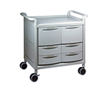 Mobile Store Cart (Storage Case Included) Shallow Type 4 Pieces, Deep Type 2 Pieces MS24F