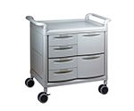 Mobile Store Cart (Storage Case Included) Shallow Type 4 Pieces, Deep Type 2 Pieces MS24G