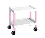 Mobile Cart (Low-Floor Type) 532 x 368 x 500 Pink MC10