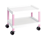 Mobile Cart (Low-Floor Type) 645 x 447 x 492 Pink MC20