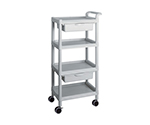 Mobile Easy Cart (Tall Type/Regular 31) Gray 4 Stages Wiith Drawer ME31F