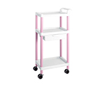 Mobile Easy Cart (Tall Type/Regular 31) Pink 3 Stages Wiith Drawer ME31B