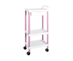 Mobile Easy Cart (Tall Type/Regular 31) Pink 3 Stages Wiith Drawer ME31D