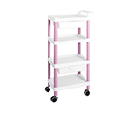 Mobile Easy Cart (Tall Type/Regular 31) Pink 4 Stages Wiith Drawer ME31F