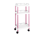 Mobile Easy Cart (Tall Type/Regular 31) Pink 3 Stages Wiith Guard Frame ME31G