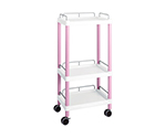 Mobile Easy Cart (Tall Type/Regular 31) Pink 3 Stages Wiith Guard Frame ME31H