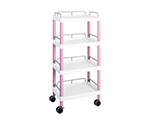 Mobile Easy Cart (Tall Type/Regular 31) Pink 4 Stages Wiith Guard Frame ME31J