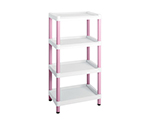 Mobile Easy Cart (Tall Type/Regular 31) Pink 4 Stages ME31K