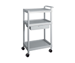 Mobile Easy Cart (Tall Type/Wide 32) Gray 3 Stages Wiith Drawer ME32B