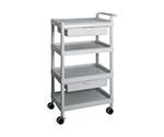 Mobile Easy Cart (Tall Type/Wide 32) Gray 4 Stages Wiith Drawer ME32F