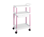 Mobile Easy Cart (Tall Type/Wide 32) Pink 3 Stages Wiith Drawer ME32B
