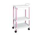 Mobile Easy Cart (Tall Type/Wide 32) Pink 3 Stages Wiith Drawer ME32D