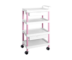 Mobile Easy Cart (Tall Type/Wide 32) Pink 4 Stages Wiith Drawer ME32F