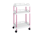 Mobile Easy Cart (Tall Type/Wide 32) Pink 3 Stages Wiith Guard Frame ME32G