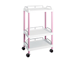 Mobile Easy Cart (Tall Type/Wide 32) Pink 3 Stages Wiith Guard Frame ME32H