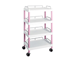 Mobile Easy Cart (Tall Type/Wide 32) Pink 4 Stages Wiith Guard Frame ME32J
